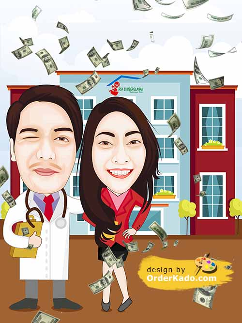 Jasa Karikatur Anniversary Murah 07
