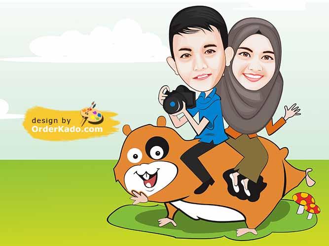 Jasa Karikatur Anniversary Murah 13 - Couple