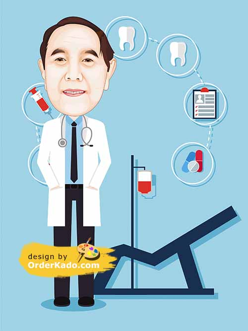 Jasa Karikatur Dokter Murah