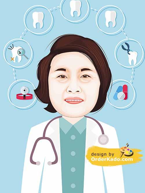 Jasa Karikatur Dokter Murah 05