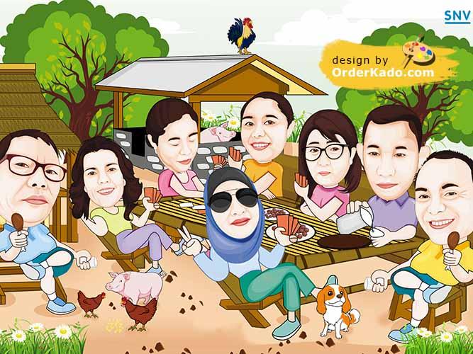 Jasa Karikatur Family Murah 06