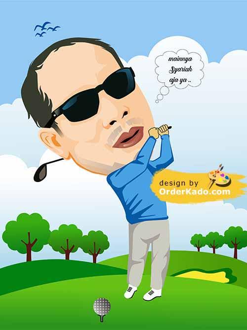 Jasa Karikatur Golf Murah 02