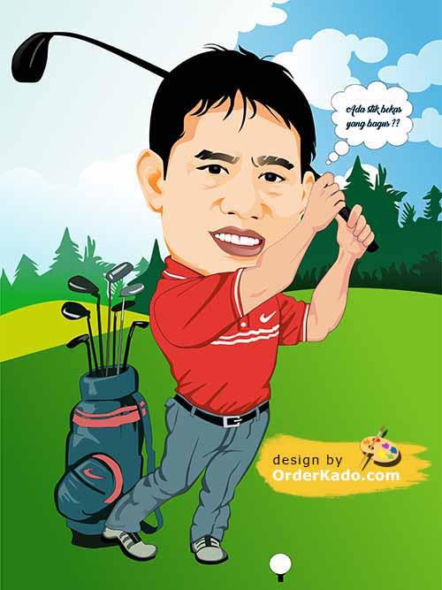 Jasa Karikatur Golf Murah 03