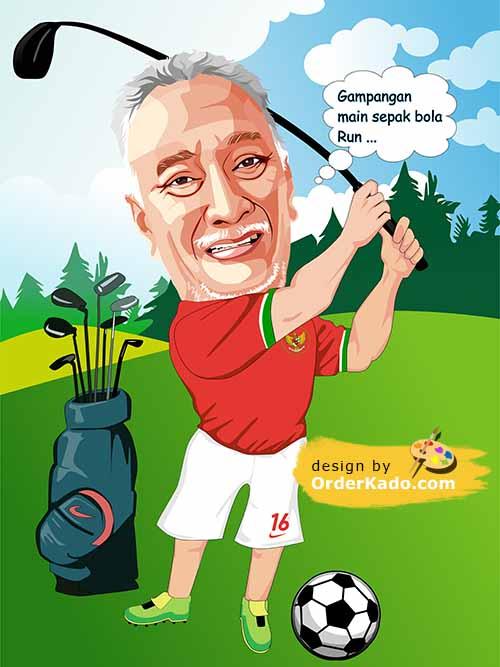 Jasa Karikatur Golf Murah 04