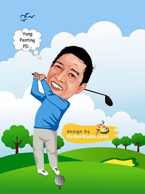 Jasa Karikatur Golf Murah 05