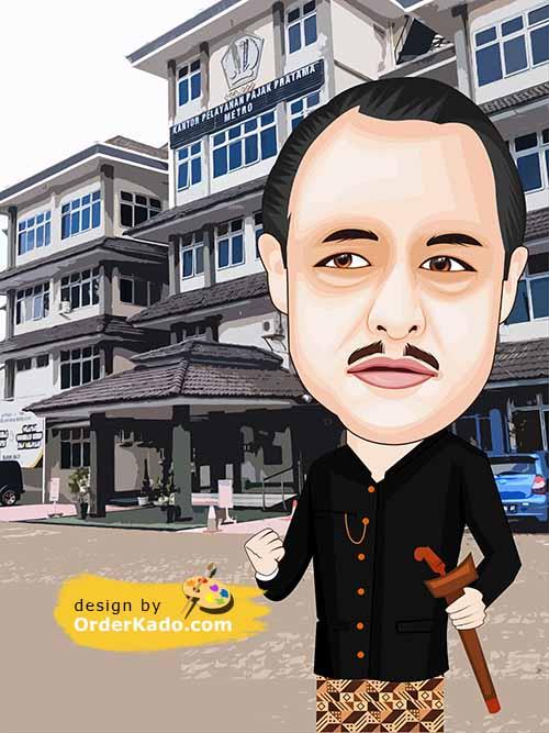 Jasa Karikatur Ulang Tahun Murah 34 - Adat Jawa
