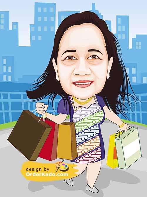 Jasa Karikatur Ulang Tahun Murah 35 - Shopping