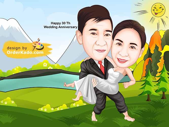 Jasa Karikatur Wedding Murah 02