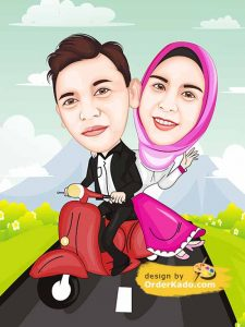 Jasa Karikatur Wedding Murah 04