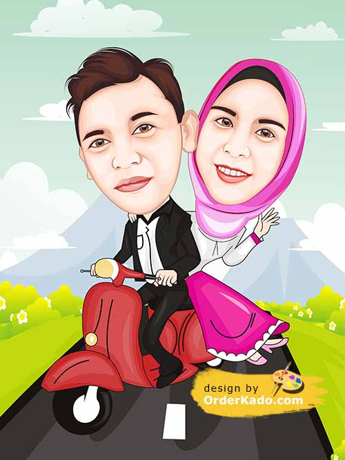 Jasa Karikatur Wedding Murah 04
