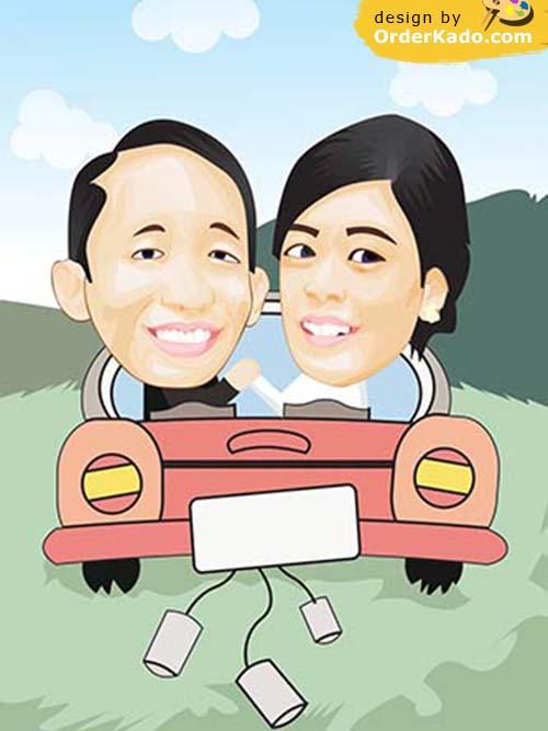 Jasa Karikatur Wedding Murah
